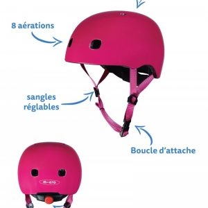 casque framboise taille S
